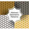 set abstract geometric pattern vector image vector image