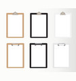 set of realistic clipboards vector image