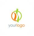 shape unusual round logo vector image vector image