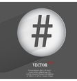 sharp Flat modern web button with long shadow and vector image vector image