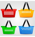 Shopping baskets set vector image