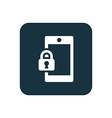 smartphone lock icon Rounded squares button vector image vector image
