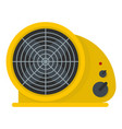 table fan icon flat style vector image vector image