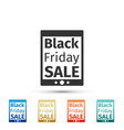 tablet pc with black friday sale text on screen vector image vector image
