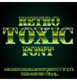 Toxic Green Font vector image vector image