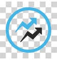 Trends Flat Rounded Icon vector image vector image