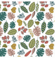 tropic leaves seamless pattern vector image vector image