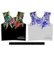 two print for t-shirt with tropical flowers vector image