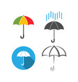 umbrella icon graphic design template vector image