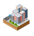 urban area of the city vector image vector image