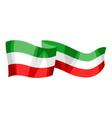 waving mexican flag vector image vector image