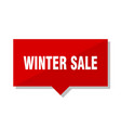 winter sale red tag vector image vector image