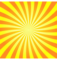 Yellow orange rays poster star burst vector image vector image