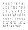 Handwritten simple alphabet set vector image