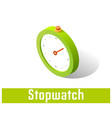 stopwatch icon symbol vector image