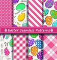 Set of scrapbook Easter seamless patterns vector image