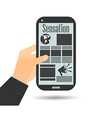 Smartphone in hand important news vector image
