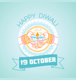 19 october diwali vector image