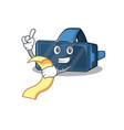 a funny cartoon character vr virtual reality vector image vector image