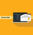 a javascript programming online learning vector image
