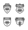 american football black badges or emblems vector image