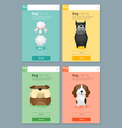 Animal banner with Dog for web design 4 vector image vector image