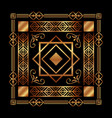 art deco background geometric adornment abstract vector image vector image