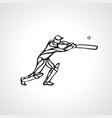 batsman athlete playing cricket vector image vector image