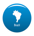 brazil map in black simple vector image vector image