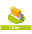 briefcase icon symbol vector image