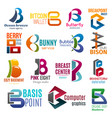business icons corporate identity letter b vector image