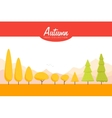 Cartoon Autumn trees set Low poly vector image vector image
