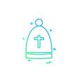 christian icon design vector image vector image