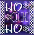 christmas card design with words ho ho ho vector image vector image