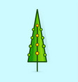 christmas tree icon decorated tree in flat vector image vector image