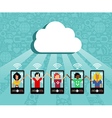 Cloud computing cell phone concept vector image vector image