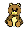 color bear teddy cute toy childhood vector image vector image