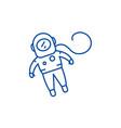 cosmonaut line icon concept cosmonaut flat vector image