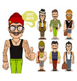 create hipsters characters part 2 vector image