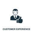 customer experience icon symbol creative vector image