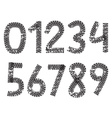 digits made from motorcycle tire tracks vector image vector image