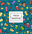 doodle smoothie background and pattern vector image vector image