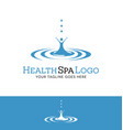 drop of water with abstract female figure logo vector image