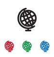 earth globe icon vector image vector image
