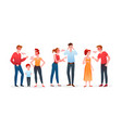 family or couple people quarrel set angry man vector image