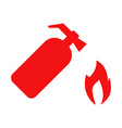 fire extinguisher icon set vector image vector image
