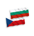 flags czech republic and bulgaria on a white vector image vector image