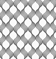Flat gray with waves forming grid vector image vector image