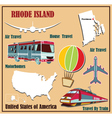 Flat map of Rhode Island vector image