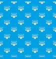game over pattern seamless blue vector image vector image